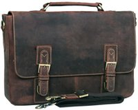 attache case women - 2013 Mens Genuine crazy horse Leather Antique Style Briefcases Business Cases Attache Messenger Bags Tote New