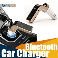 Wholesale Smartphone Bluetooth MP3 Radio Player Handfree FM Transmitter Modulator A Car Charger Wireless Kit Support Hands free Micro SD TF Card