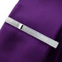 Wholesale Hot Sale Gentleman Tie Clasp Cufflinks Set Simple Metal Wedding Necktie Pin Clips Bar for Men Gift YE0016
