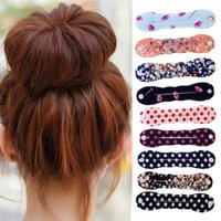 Wholesale 2Pcs Dish Hair Tools Sponge Hair Styling Donut Bun Maker Chrismas Magic easy using Former Ring Shaper Styler Tool