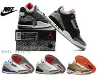 newest basketball shoes - 2016 Newest Nike dan Basketball Shoes White And Black Cement Original Quality Retro AJ3 Running Shoes With Box
