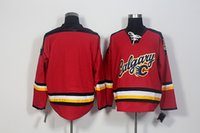 color flame - 2016 Sean Monahan Ice Hockey Jersey Calgary Flames Old Time Jersey Pullover Hockey Jersey Red color Good quality