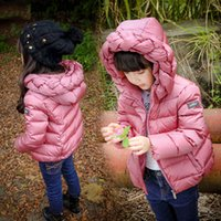 Wholesale Winter New Children s Down Jacket Braided Hooded Baby Outwear Candy Colors Coat Warm Overcoat for Girls