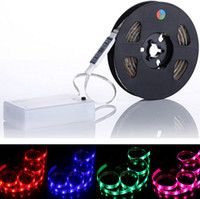 backgrounds pc - New Arrival Waterproof RGB SMD LED Strip Flexible Lights Lamp Battery Power with Mini Controller CM For background TV
