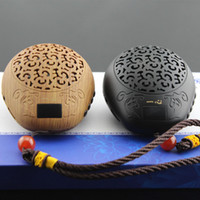 bible music - Luxury Wooden fish style buddha machine Mini Portable Mp3 Sound Card Speakers buddhist music player Quran player bible player