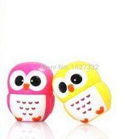 Wholesale 1pc Owl Lip balm for Make up Round Moisturizer Organic Lipbalm Cartoon Owl lipstick for Gift g