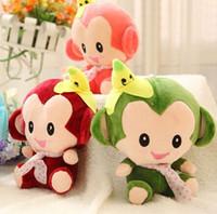 baby monkey stuff - 18CM Baby Birthday Gift New Banana Monkey Plush Cushion Baby Pillow Toys Stuffed Plush Doll