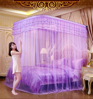 Wholesale Bold fishing rod telescopic mosquito net three door stainless steel stent Princess m m1 m type U double bed