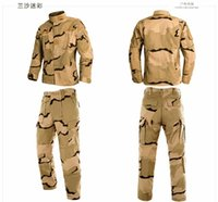 Wholesale Tactical Gear coat Softshell Camouflage Jacket Men Army Waterproof Clothing Set Outdoor Sports Suit jacket Pants
