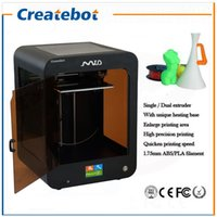 Wholesale Createbot Mid D Printer Hot Sell Full Metal Glass platform Printing Size mm D Printer KIT rolls filament GB SD Card Free