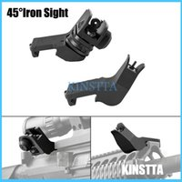 ar buis - KINSTTA Tactical AR Front Rear Degree Rapid Transition BUIS Backup Iron Sight Fit mm Picatinny rail