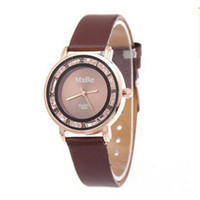 beauty students - New Style Fashion Gift Simple Beauty Watch the Ball with Sand Leather Quartz Wristwatch For Student