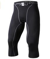 Wholesale EU Men s Compression Capri Base Layer Tights Pants