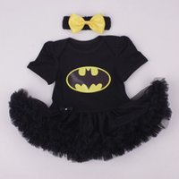batman romper costume - Batman BEBE Christmas Costumes For Kids Black Lace Romper Dress Headband Baby Girl Clothes Set Toddler Infant Clothing