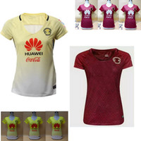 Wholesale DHL shipping thai quality Mexico club America Women girls Lady red shirt D BENEDETTO P AGUILAR soccer football jersey mixed order