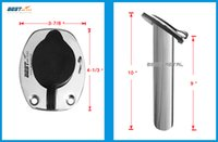 best saltwater fishing rods - 2 Pieces Flush Mount Degree BEST METAL stainless steel fishing rod holders oval shape flange with ring