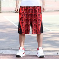 basketball shorts with pocket - Elastic Waist Basketball Sport Shorts Knee Length Men s Loose Shorts With Sise Pockets Printing Gym Shorts Size L L