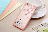 Wholesale cherry blossom coloured drawing Iphone s s plus case