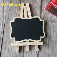 Wholesale mm New Zakka Vintage wooden mini blackboard set with tripod DIY tools Sweet Teaching Stationery