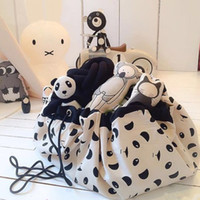Wholesale Toy Storage Bag Organizer Rug For Legos Portable Kid Play Mat Creative Home Storage Supplies