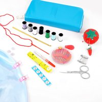 Wholesale high quality Portable Sewing Kit Box Household Needle Thread Scissors Ring Kit Fabrics and Sewing Set Tools set