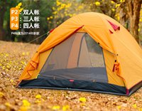 based accounting - Multi Person Double Layer Outdoor Aluminum Pole Tent Super Light Double Layer Account Aluminum Alloy Material Anti Ultraviolet