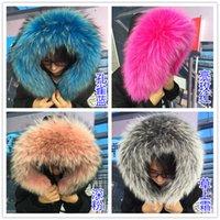 animal fur jackets - real fur raccoon fur collar colors colorful jacket fur scarf new raccoon fur collar feather coats collars large cap