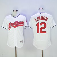Wholesale Indians Francisco Lindor Men Baseball Jerseys Majestic White World Series Bound Cool Base Jerseys Cleveland Jersey Hot Sale