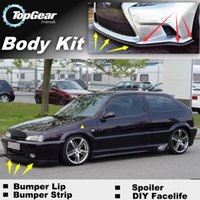 Wholesale Bumper Lip Lips For Citroen ZX Front Skirt Deflector Spoiler For Car Tuning The Stig Recommend Body Kit Strip