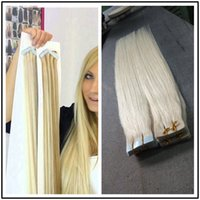 Cheap 613 blonde Pu skin weft 2016 Hot straight Human tape hair extensions 40pcs lot 18to28 inches from Cheery Factory