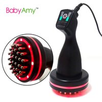 acupuncture detoxification - Electronic acupuncture slimming Device BIO microcurrent Meridian Scrape Therapy Infrared body Detoxification massage comb
