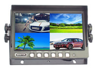 Wholesale 7 inch Stand alone car Monitor with quad images trigger way video input built in speaker