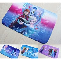 Wholesale cm princess Cartoon bath mat Coral fleece door matcartoon frozen cute bedroom bathroom carpets and rugs
