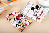 apple ipad mouse - Cartoon Smart Leather Case Stand Pouch For Ipad Mini mini4 quot tablet Cute Mickey Minnie Mouse Cards Slot Soft TPU Skin Cover