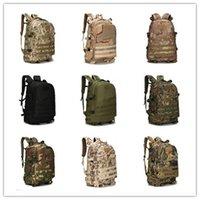 Wholesale Outdoor waterproof D oxford mountaineering backpack bag outdoor men tactical military camouflage bag shoulder bag sports bag B0173
