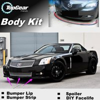 Wholesale Bumper Lip Lips For Cadillac XLR XLR V Front Skirt Deflector Spoiler For Car Tuning The Stig Recommend Body Kit Strip