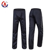 Wholesale 2015 New Double Layer Thicker Outdoor Waterproof Windbreak Motorcycle Bicycle Raincoats Ride Rain Pants High Quality