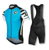 bicycle sleeves - New arrival Assos men cycling jersey clothing set short sleeve jacket bib gel pad shorts kit summer bicycle sport