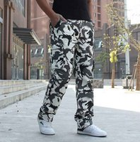 big and tall mens pants - Winter Warm Mens Camouflage Pants With Multi Pocket Plus Size High Quality Fleece Big And Tall Military Outdoor Men Trousers