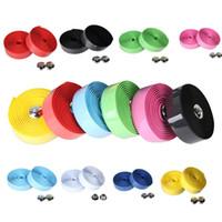 Wholesale Hot Sale New Cycling Road Bike Sports Cork Handlebar Tape Bar plug Pure Colors Bike Bicycle Hand Bar KSKS