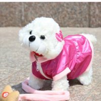 Wholesale Robot Dog Pets Singing Walking Musical White Pink Brown Electronic Pets Dog Electronic Dogs Toys For Kids Children