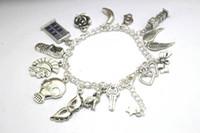 Wholesale Silver Tone Jewelry Box - 12pcs Doctor Who Charm Bracelet silver tone tardis police box jewelry