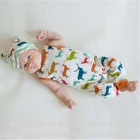 Wholesale ins Boys Girls Baby Onesies Cotton Cartoon Elk Baby Rompers Newborn Romper Clothing Newborn Jumpsuits Infant Clothing