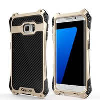 alloy kickstand - 2016 Phone case for Samsung S5 S6 S7 Edge Shockproof Snowproof Waterproof Dirtproof iphone Cover Shell Alloy Metel Frame Antishock Cover
