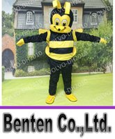 bee fancy dress costumes - VO184 Custom Lovely Honey Bee Mascot Cartoon Costume Adult Christmas Halloween Fancy Dress Clothes Animal Carnival Party Event Performance