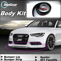 Audi audi body kits - Bumper Lip Lips For Audi A6 S6 RS6 C6 C7 Front Skirt Deflector Spoiler For Car Tuning The Stig Recommend Body Kit Strip