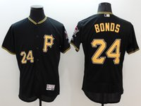 Wholesale MLB Pittsburg Pirates Bonds new black Men s jerseys Clemente grey white colors all sizes