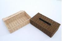 Wholesale Eco friendly Braid Rectangle Tissue Case Removable Tissue Box Table Decoration Napkin Boxes Desktop Organizer