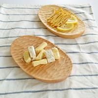 Wholesale Dessert Hamdmade Dishes Plates Wooden Sushi Dessert Plates Diameter Cooking Tools Wooden Dinnerware Burlywood MOQ piece