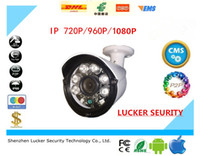Wholesale LUCKER SECURITY Aluminum Metal Waterproof Outdoor Bullet IP Camera P Camera CCTV Array LED Board ONVIF Camera